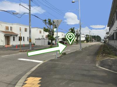 二本目の通りから東(左)へ進む