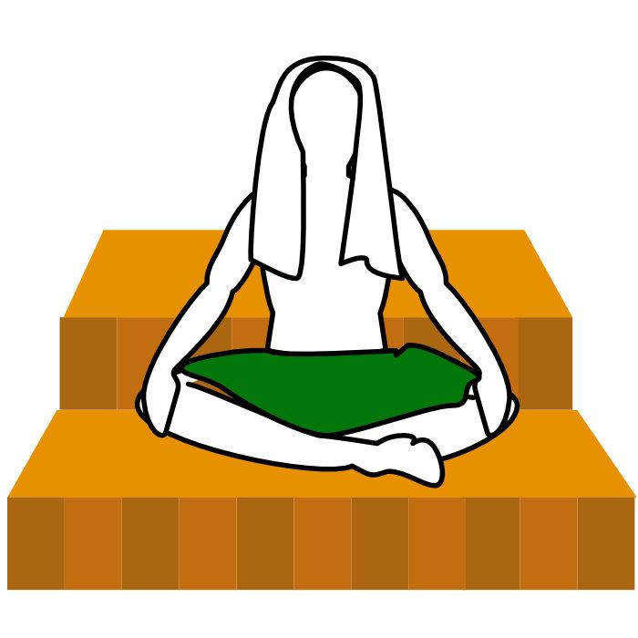 サウナの座り方